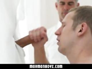 MormonBoyz-Young stud sucks a giant dick at a gloryhole