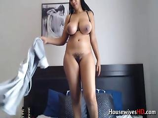 Zambian Big Booty Housewife Squirting Hairy Pussy