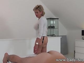 gros téton, anglaise, branlette, massage, mature