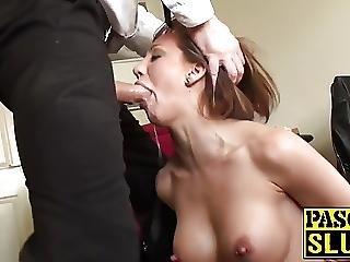 Milf Slut In Heat Gets Her Pretty Face Slapped Real Hard