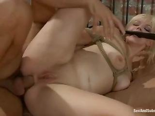 Submissive Blonde Bdsm Butt-fucked Ass-to-mouth Cum-swallowing