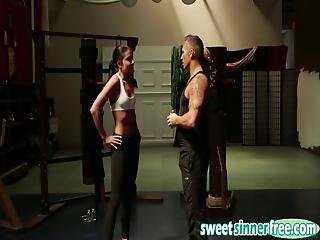 Young Model Fucks Her Fitness Trainer