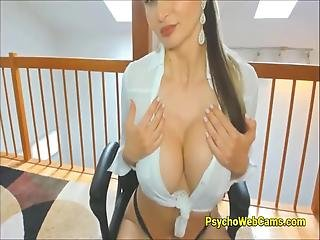 She Is All Alone At Her Home And Horny Milf