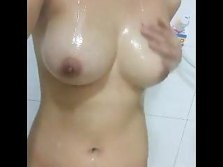 Thai Girl Nice Tits Touching Herself In The Bathroom