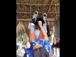 Student Fucks His Classmate Outdoor
