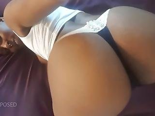 Ayla Snaps - Wearing My Blue And White Thong For Rosiz