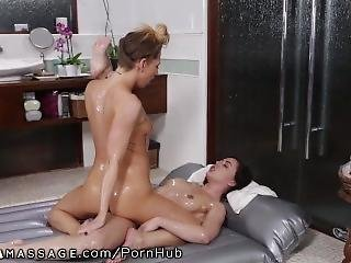 Lesbians Tribbing In Nuru Massage Gel