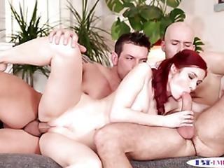 Assfucking Hunks Spitroasting Redhead Babe