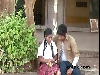 Guy Seducing Teen Girl And Pressing Her Boobs