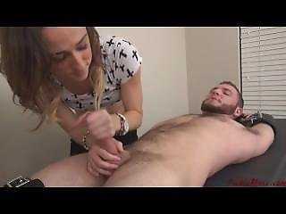 Bitch Gives Tickling And Fast Handjob