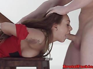 Deepthroating Amateur Roughly Buttfucked