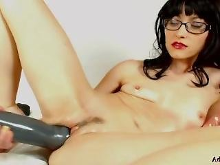 My New Girlfriend Adalynnx Is Trying My Huge Anal Dildosto Fit In Her Tiny