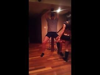 Greek Guy Gets Ballbusted By Gf