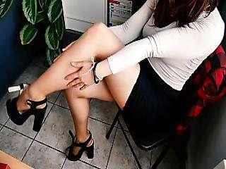 ametérské, exgf, nohy, fetiš, noha, lak, sekretářka, sukně, palce