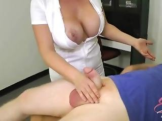 Nurse Eva Notty Ballbusting & Titjob