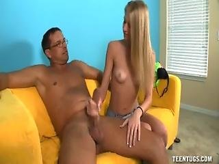 Teen stroking cock first time the greatest