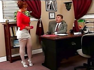 Big Boob, Blowjob, Boob, Hugetit, Redhead, Secretary, Slut