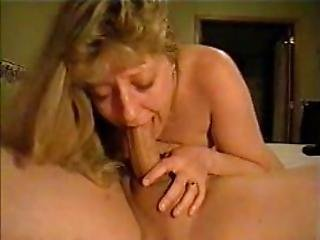 Wife Sucks The Cock With The Dildo In The Cunt