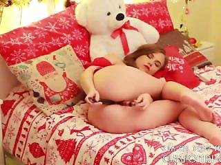 Cute Busty Teen Loves Stuffing Her Holes