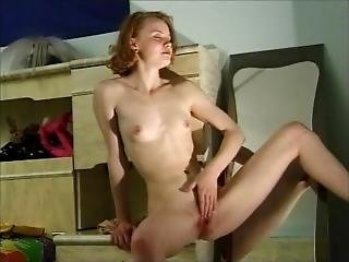Pale Redhead With Perky Tits Fingering Her Tight Pussy 2