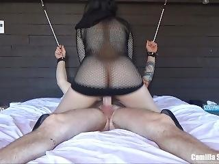 Kinky Girlfriend Uses A Cock For Pleasure Then Licks Cum From Her Creampie