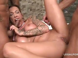 Legalporno - Chantelle Fox Assfucked By Three Guys & Double Penetration