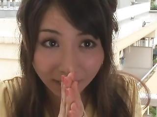 Cute Housewife Yuuka Osawa Has Creampie Sex With A Neighbor.