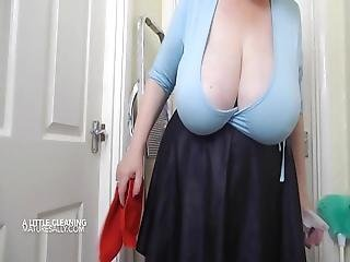 Sally Loves To Tease Whilst Cleaning