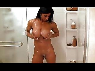 Hardbody Milf Rubs Her Pussy In The Shower