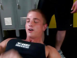 Rimmed Hunk Deepthroats Hard Cock At The Gym