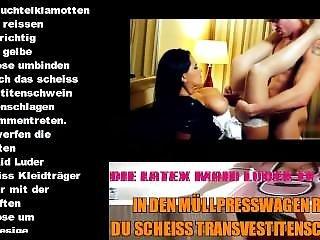 Sexy Latex Maid Luder - Du Wirst Mit Hausmüll Totgepresst Und Verbrannt