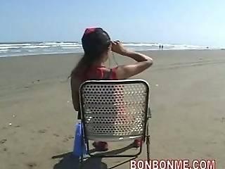 Spiaggia, Bellissima, Pompini, Guardia, Sega, Bagnina, All'aperto