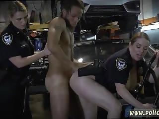 Blondes In Black Lingerie Masturbating Chop Shop Owner Gets Shut Down