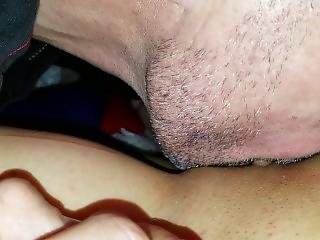 No Panties Dress Pulled Up And Pussy And Clit Being Sucked