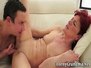 Grannys Mouth Cummed In