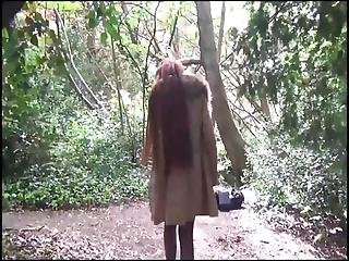 Naughty Amateur Flasher Dannii Drops Panties Outdoors And Masturbates In Public With Exhibitionist Redhead Sweetheart Playing To Voyeurs And Pleasuring Herself