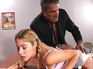 Kara Novak Spanked By Horny Stud Teacher