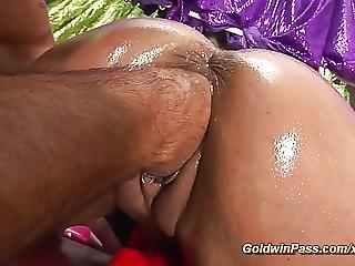 Oiled Stepmom Deep Fistet