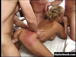 T.j. Hart Is A Very Busy Milf, In This Hardcore, Mmmf Foursome, Where