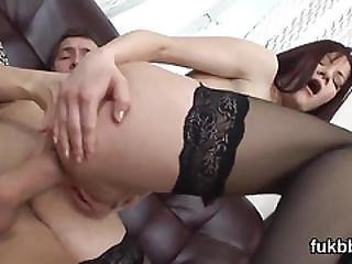 Unusual Babe Spreads Her Honey Pot And Loves Hardcore Sex
