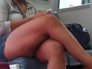 Big Crossed Legs In Public