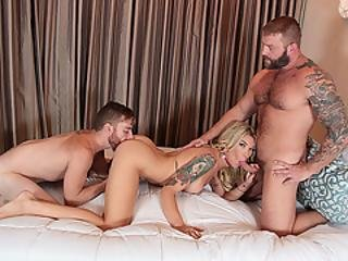 Two Studs Sebastian And Colby Fucks Aubrey Kate Juicy Ass Hard