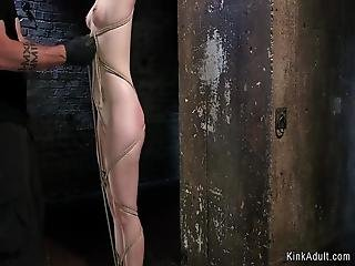bdsm, bondage, klavbinda, spruta, bunden