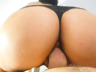 Ride It Hard! Blindfolded / Ass Up / Tight Pussy / Panties To The Side