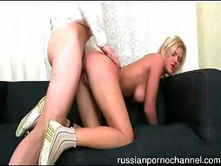 Hot Russian Babe Banged By Horny Guy