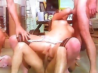 Anal, Kociak, Obciąganie, Brunetka, Wytrysk, Twarz, Czwórka, Seks Grupowy, Hardcore, Mmmf, Seks