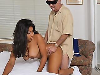 Hot Nurse Jenna Foxx Fucks Two Horny Old Guys