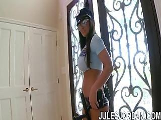 Jules Jordan - Lisa Ann Busty Cop Fuck My Ass Or Go To Jail