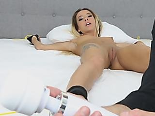 Girl With Small Tits Blowing Big Dick