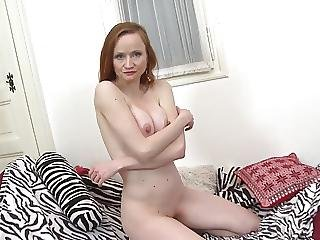 Mature Redhead Mom With Hungry Old Cunt
